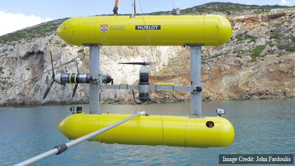 Sirius, an underwater robot that can autonomously map the bottom of the sea.