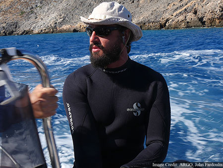 Thanasios Chronopoulos, diver, boat skipper