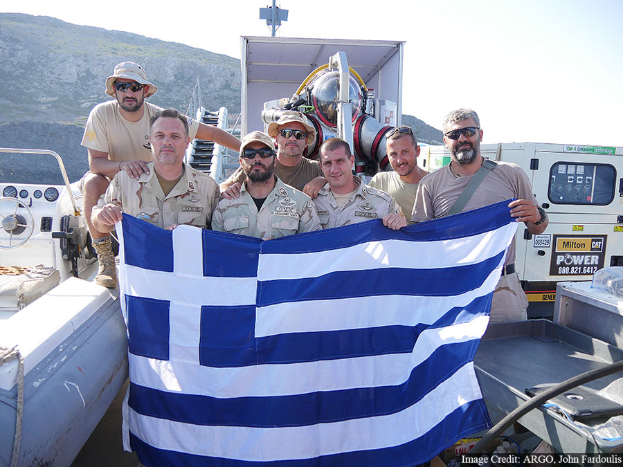 The Hellenic Navy SEAL (O.Y.K) team assigned to the project.