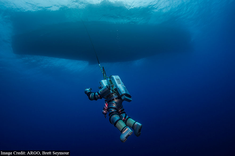 Exosuit was deployed as an new experimental system for deep water archaeology.