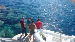 Antikythera team on Glaros